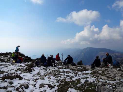 Lunch break - Monte Tre Calli