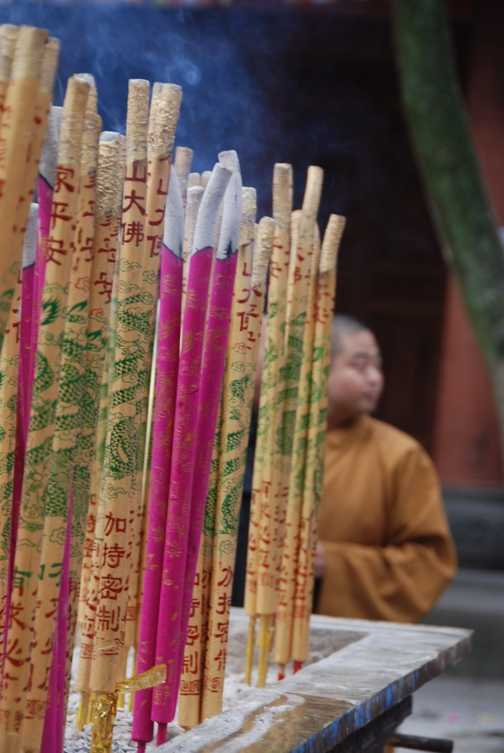 heady with the smell of incense