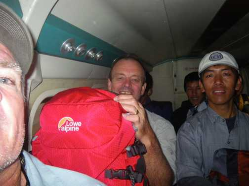 29/3 me on flight to Lukla with cabin baggage