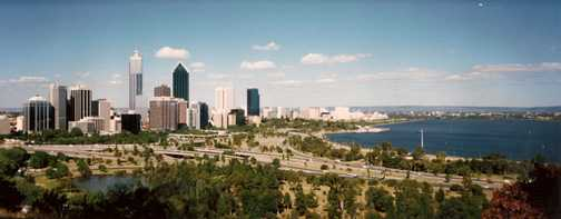 View of Perth from Kings Park, WA