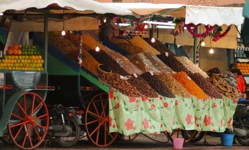 Market stalls in Marrakesh