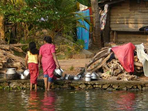 Laundry and potwash on the backwaters
