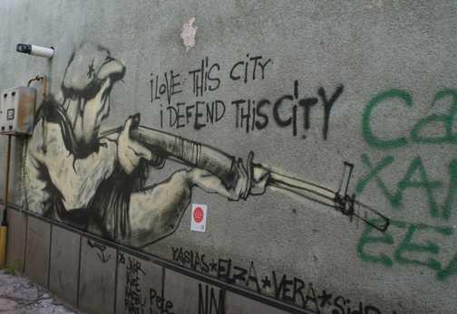 I love this city I defend this city (Sarajevo)