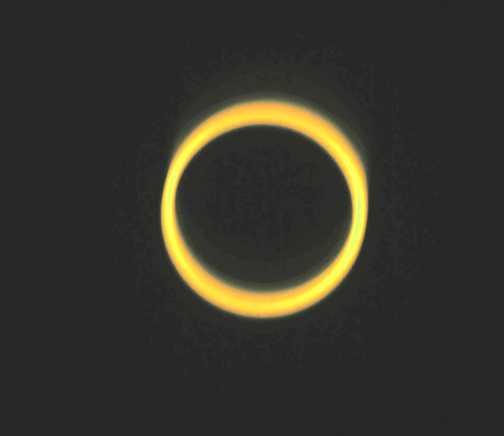 Annular eclipse over Nile, Uganda