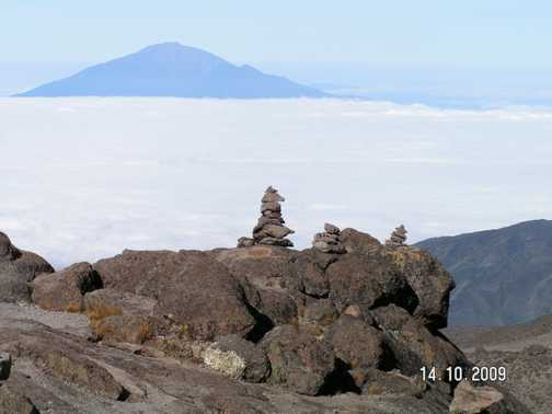 Looking over to Mt Meru