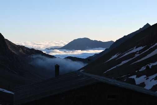 Dawn in Base camp