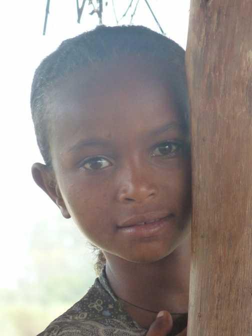 Lovely village girl at BLue Nile Falls