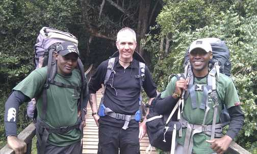 Me and the guides near the end