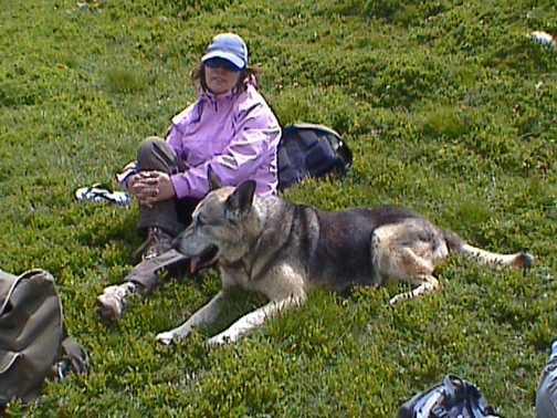 Sabina comforts poorly hill walker