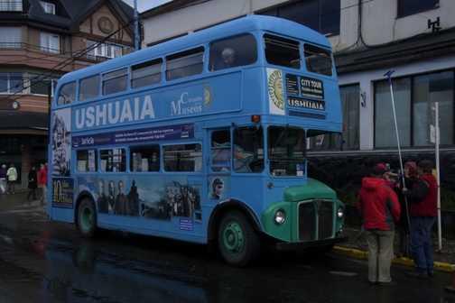 Tourist bus in Ushuaia