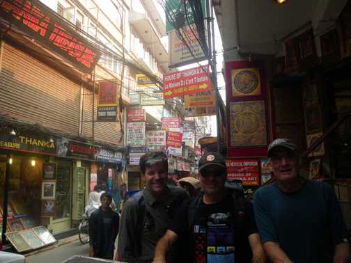 27/3 - The Aussies (Ron, Mark and Peter) in Kathmandu