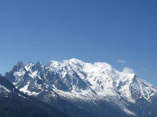 View of Mt Blanc