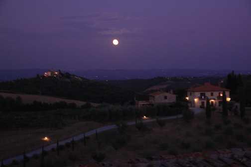 Evening at the farmhouse