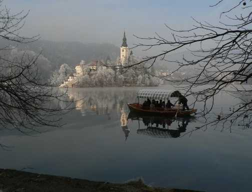 Reflections in Lake Bled