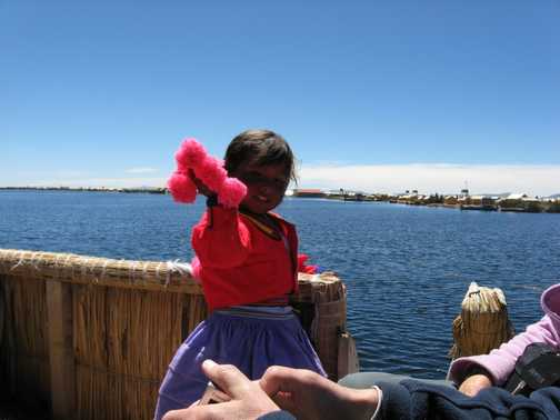 Little girl from the Uros Islands
