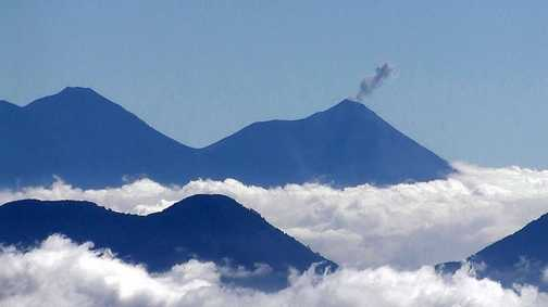 View from Summit of Volcan Santa Maria
