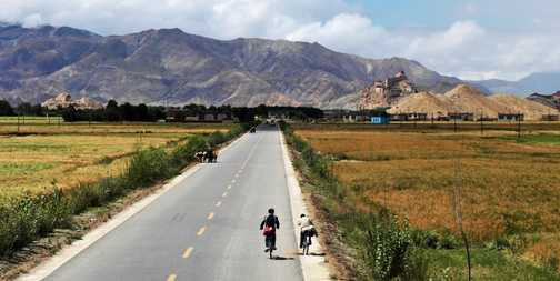 The road to Gyantse