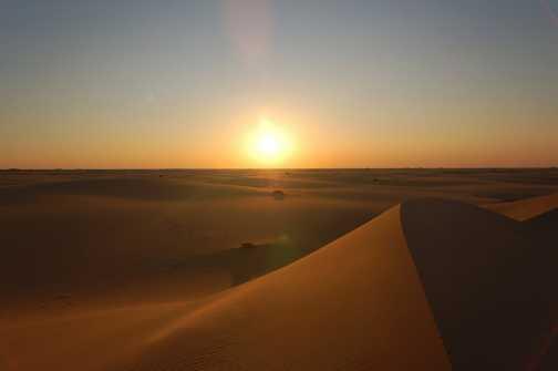 Last night in the beautiful sandy desert