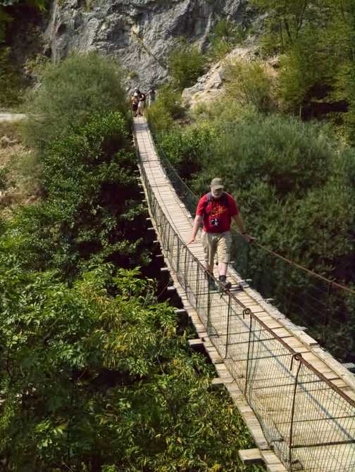 Crossing Suspension Bridge