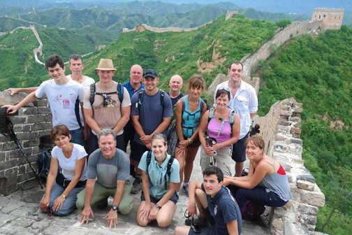 Group photo at Jinshanling
