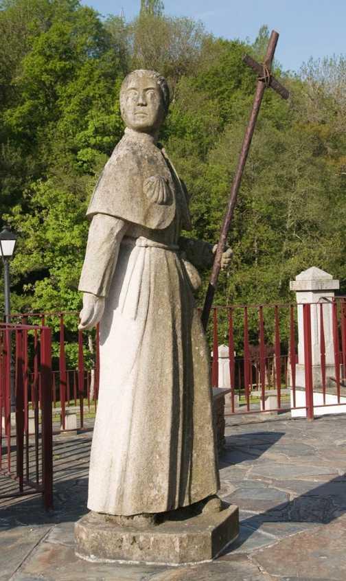 Pilgrim statue Samos