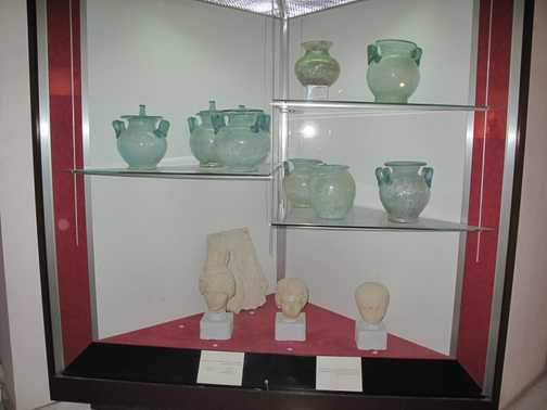 Glass from burials Tripoli museum