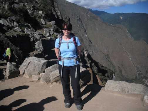 Concave Inca terraces at Wiñay Wayna