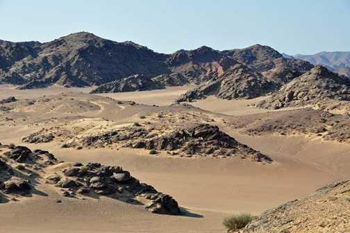 Landscape Namib desert