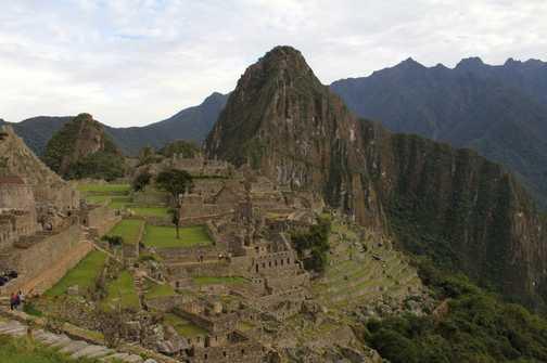 Peru Rail line through Aguas Calientes