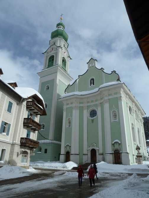 The Church in Dobbiaco is beautiful