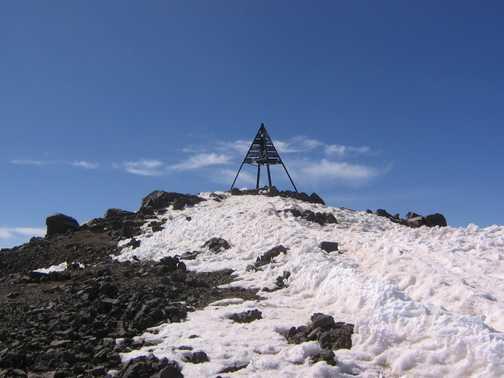 Toubkal summit