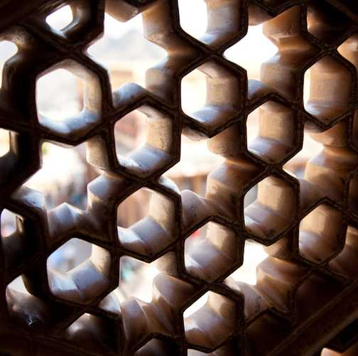 The lattice windows of Amber Palace, Jaipur