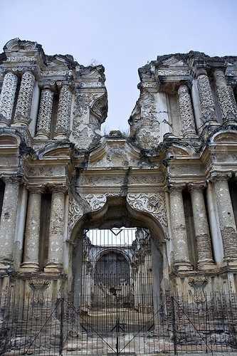 Earthquake-damaged Capuchinas church
