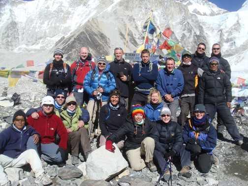 Team photo at Base camp