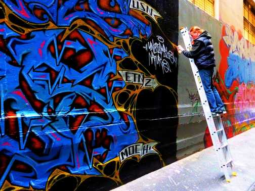 Street Art, Council gives permission to graffiti lanes in Melbourne Australia