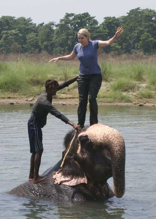 Fun with the elephants at Chitwan