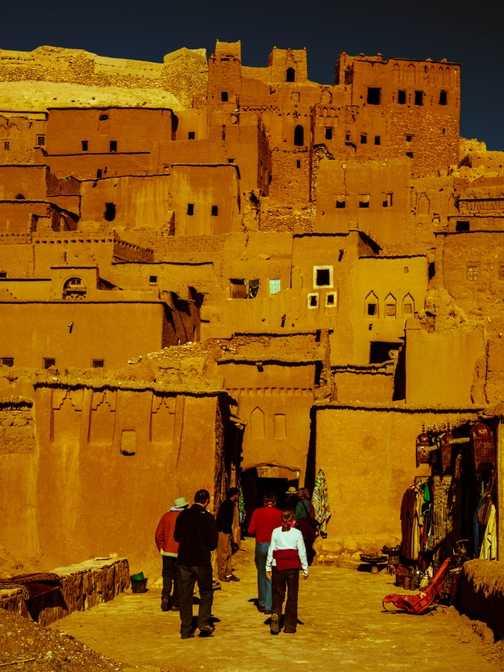 Inside Telouet kasbah - Window