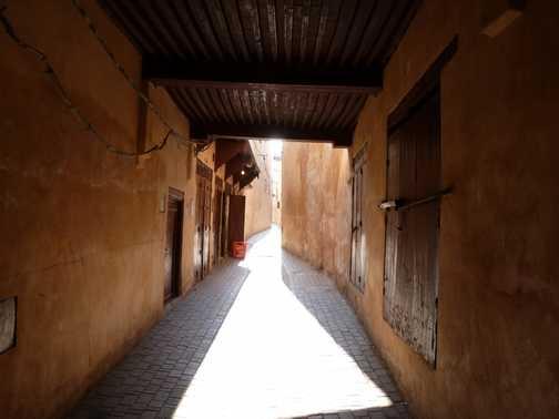 Narrow streets of the medina in Meknes.