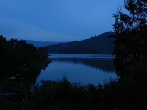 Lake Bunyonyi at dusk, Uganda