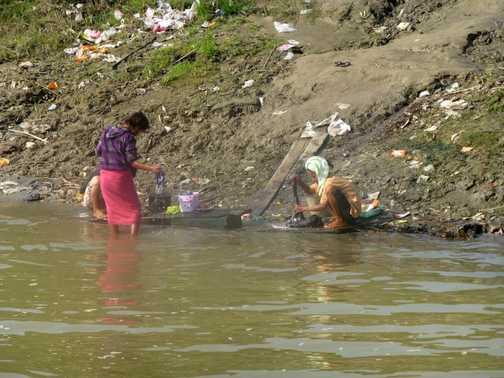 Wash day near Mandalay