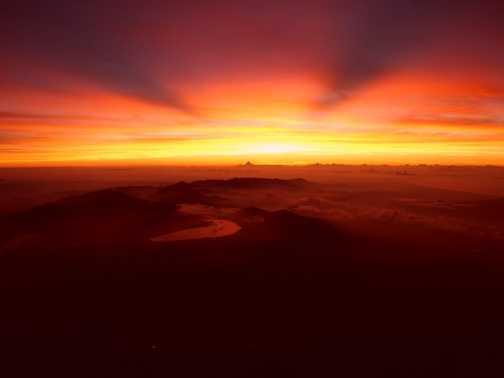 Sunrise from summit of Fuji