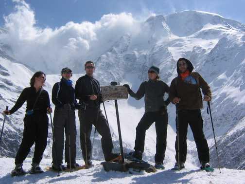 Mt Blanc behind....