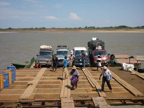 Ferry over the Tsiribihina River