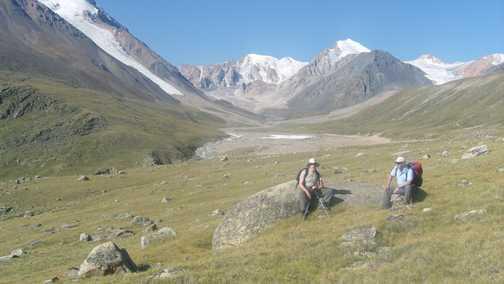 Near the glacier