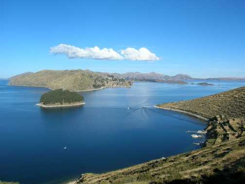 Beautiful Lake Titicaca (view from the Sun Island