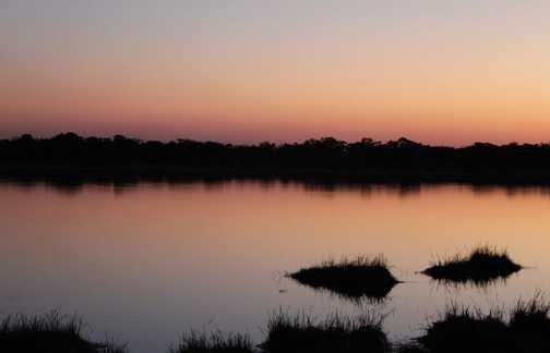 Sunset at the hippo pools