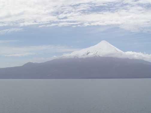Volcan Orsono across Lago Llanquihue from Puerto Varas