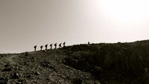 Heading to the summit of Jbel Toubkal