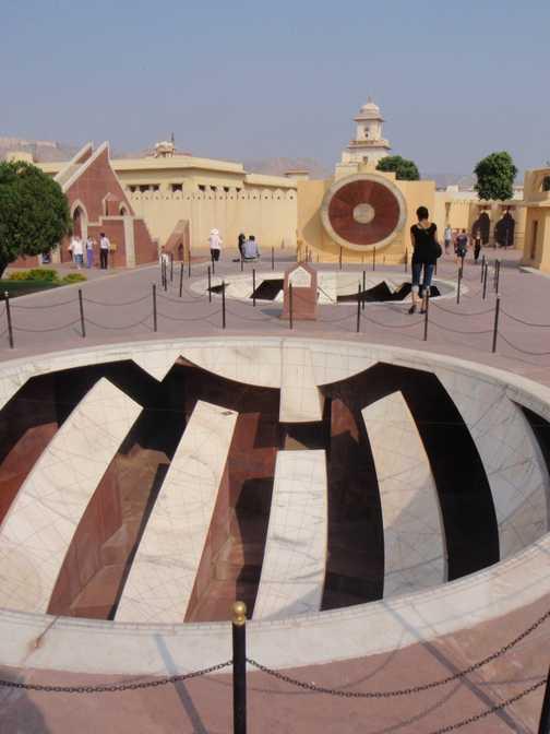 Jantar Mantar - Observatory of Jai Singh - astronomical instruments.