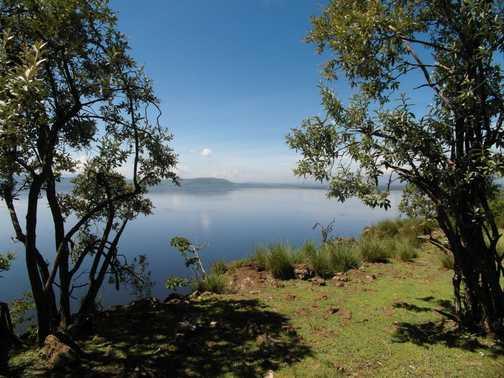 Lake Nakuru ... panoramic from Baboon cliff